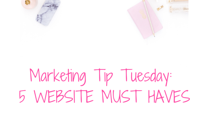 5 Website Must Haves