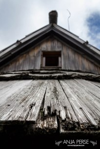 Weatherboard roof of a cottage