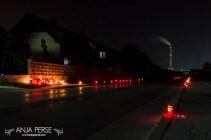 Sveče vzdolž Bukovčeve
