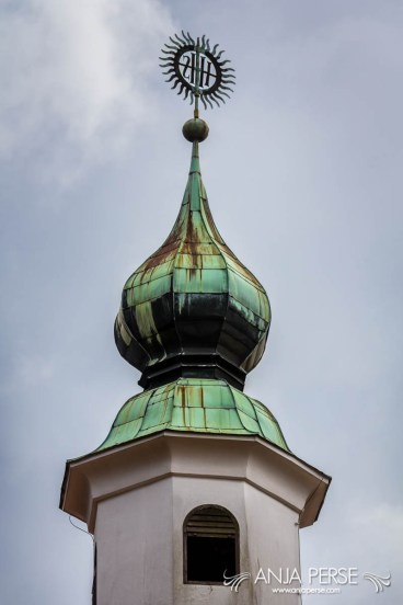 Roof of a bell tower