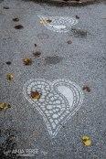 Sprayed lace hearts