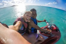Jet ski ride, Coconut Grove, Antigua, Caribbean