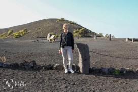 Geo spot at the volcano, La Palma, Spain