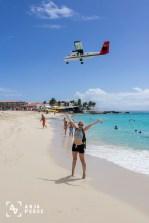Planes above me, Maho Beach, St. Maarten, Caribbean