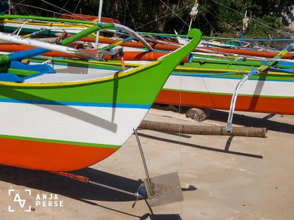 Colourful boats at Philippines