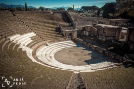 Ancient theatre in Pompeii