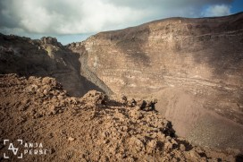 The crater of the volcano, Mount Vesuvius