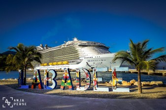 Welcome to Labadee! Yes, this ship is huge...
