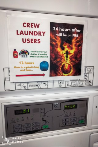Yes, keep an eye on your laundry... Can you feel the adrenaline rush?! =)