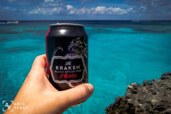 Since we're in Caribbean, why not try The Kraken! Sea monster one way or another, doesn't matter. Plus rum, always good choice.
