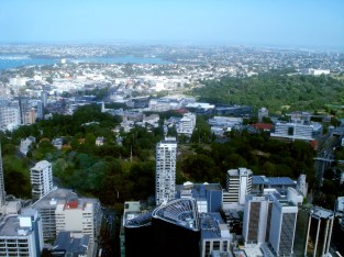 360° view from the Sky Tower in Auckland/New Zealand