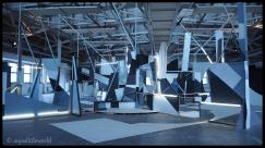 an artwork with mirrors by CLEMENS BEHR