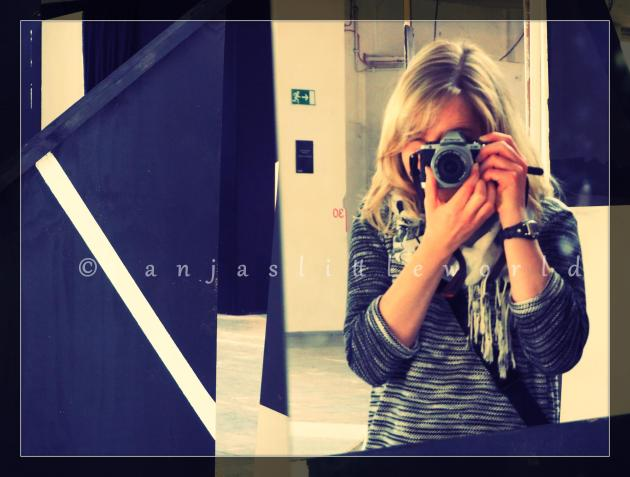 Selfie which I took in one of the mirrors of Clemens Behr's artwork.