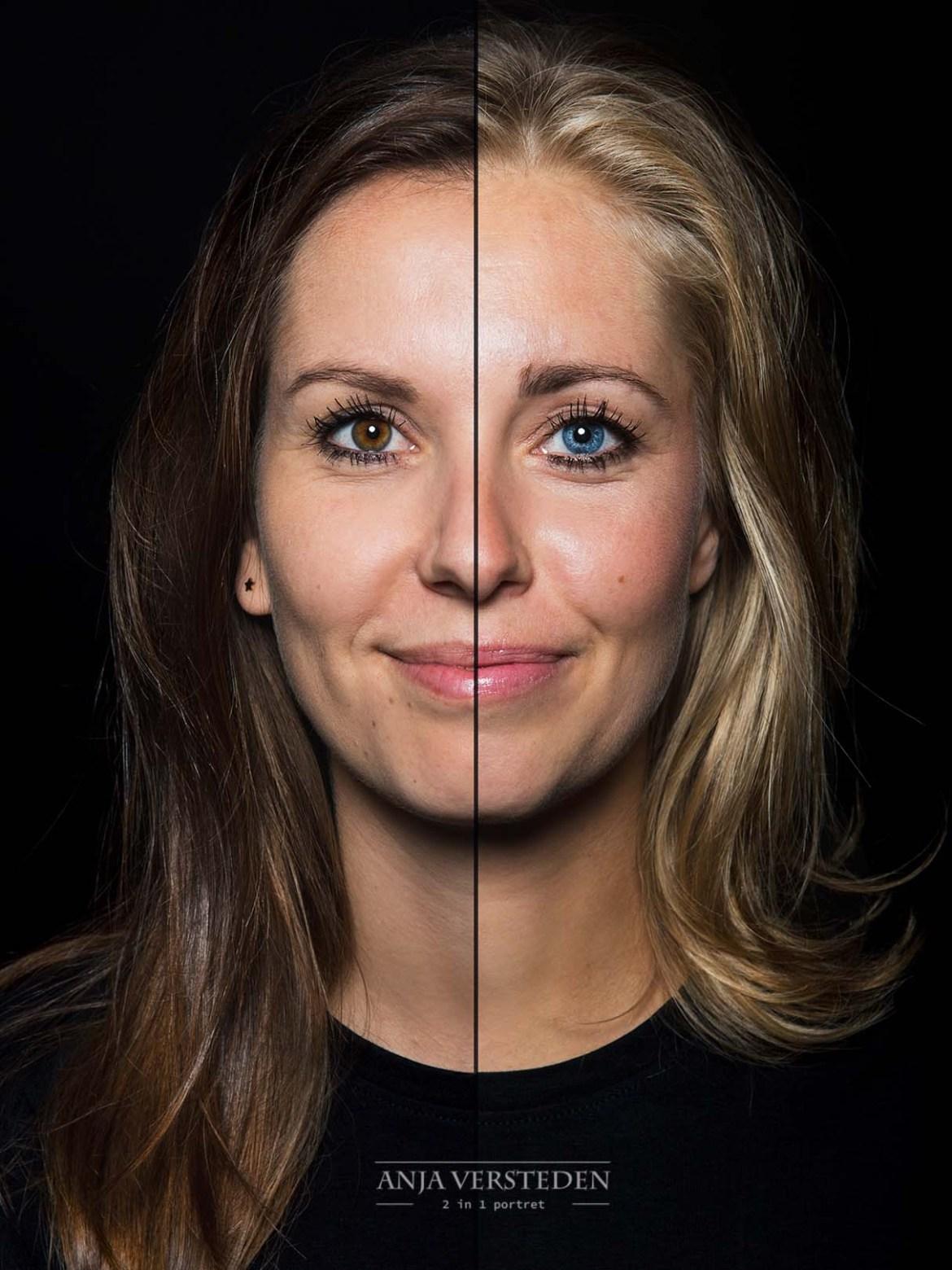 2 gezichten in 1 foto   2in1 portret