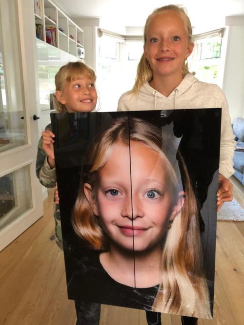 2in1 portret achter plexiglas