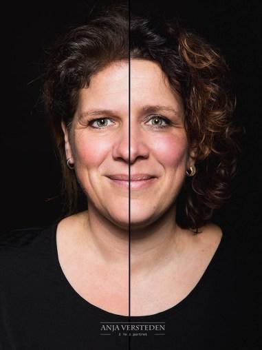 twee gezichten in een foto | portret 2in1