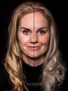 2 in 1 twee zusjes samengesteld portret