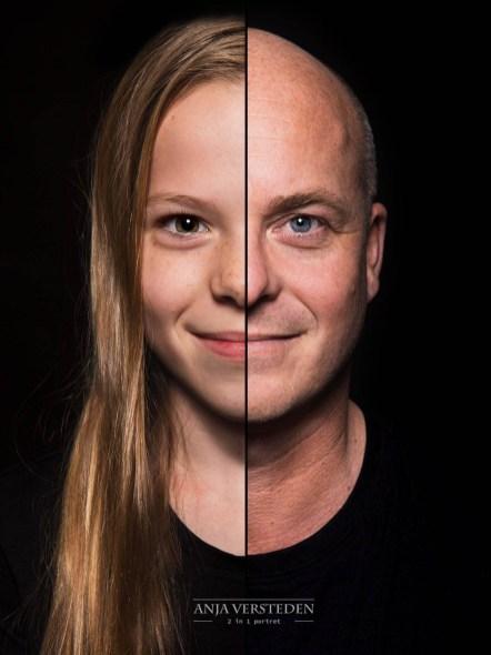 Vader en dochter twee in een portret