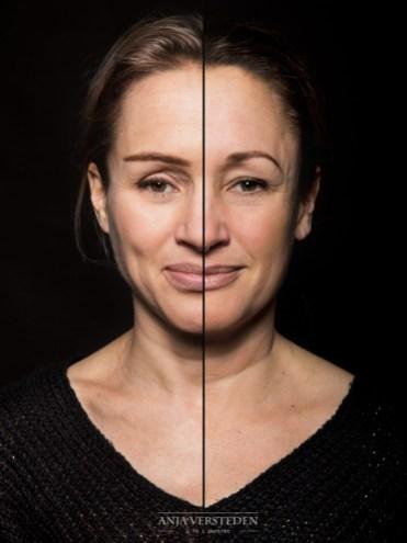 Splitface portret foto | 2 in 1 portret