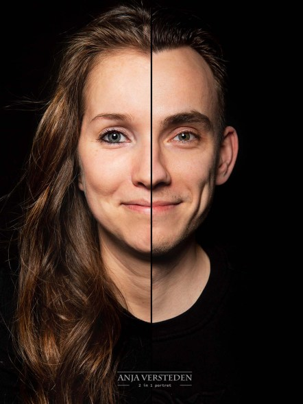 Duo gezichts fotoshoot Anja Versteden