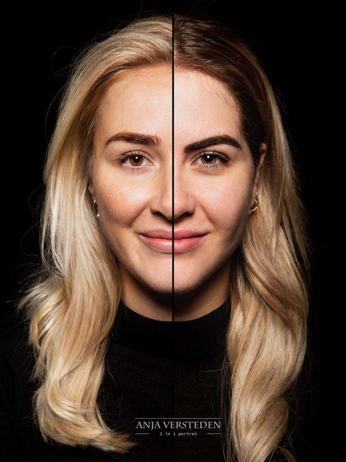 Twee gezichten in een foto | Dubbelportret