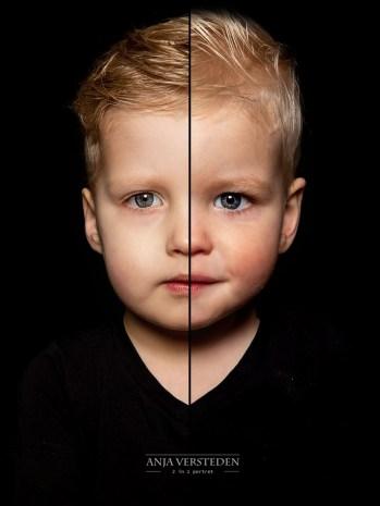 Dubbel fotografie | twee broertjes in een portret