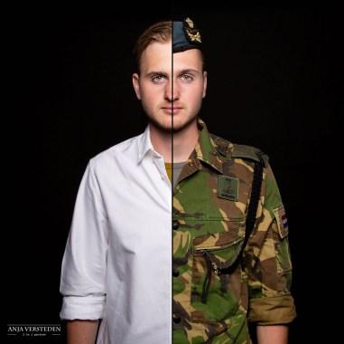 combi portret burger vs militair