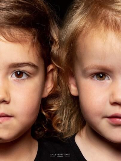 2in1 portret andersom | halve gezichten in foto