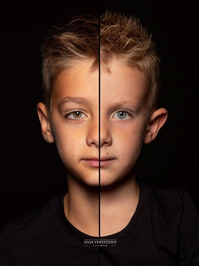 Kinderfotografie twee gezichten in een foto