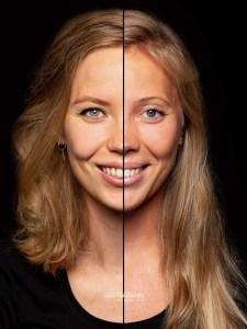 Twee gezichten in een portret