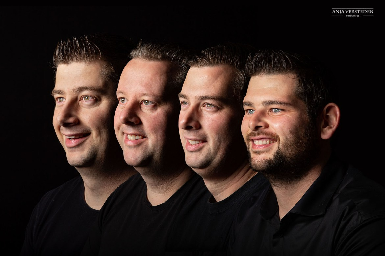 Vier broers portret | Familiefotograaf