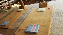 Futon ready for Thai massage