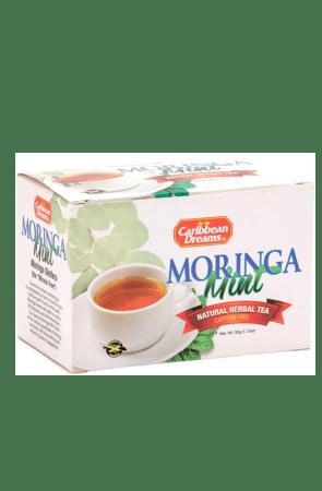 Caribbean Dreams Moringa Mint Tea (pack of 20 tea bags)   Caffeine Free