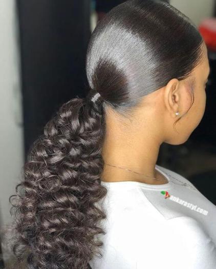 39 Best Black Ponytail Hairstyles 2021 For Black Ladies
