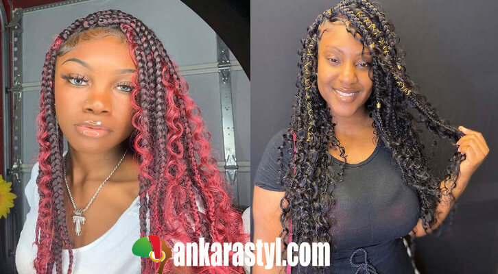 27 Easy Box Braids With Curls For African Americans In 2020