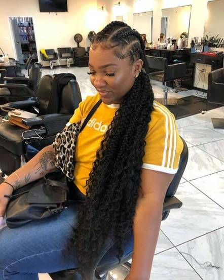 Goddess Easy Braids Hairstyles with Curls
