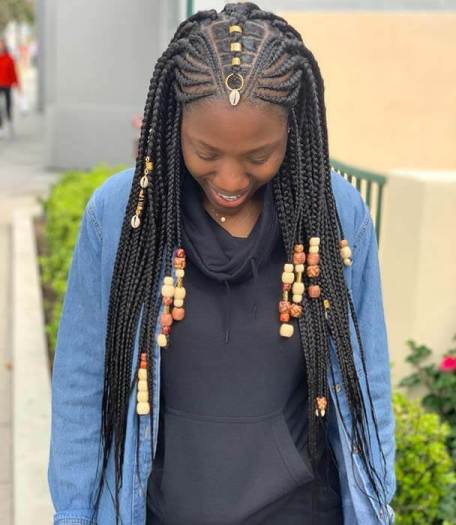 25+ Pretty Lemonade Braids with Beads To Copy This Season