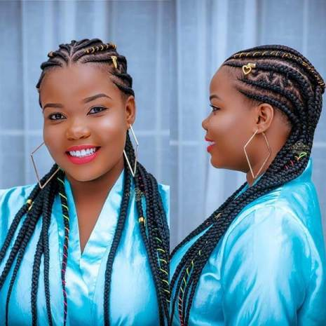 African Cornrows with Natural Hair With Cords