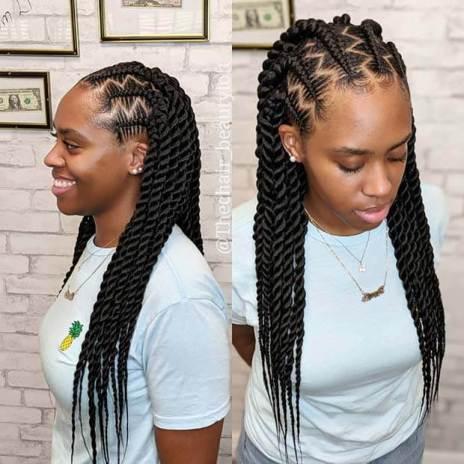 Beautiful Zig Zag Twist Braids