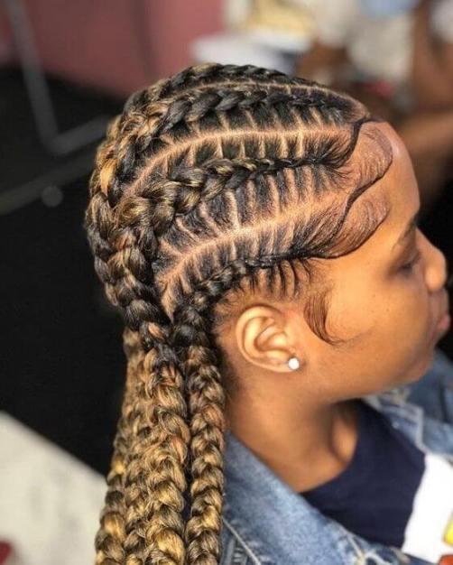 29 Best Braided Hairstyles with Narrow Braids Ponytails 2020