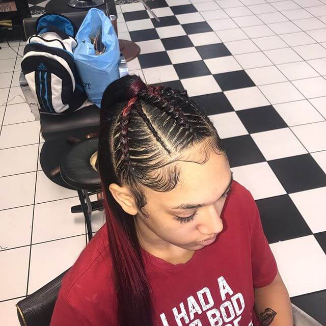 Feed-in braids Hairstyles With Narrow Braids