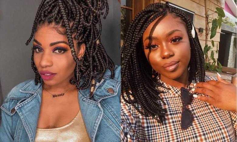 37 Chunky Bob Box Braids Hairstyles For African American Girls