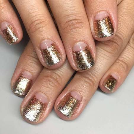 Gold Nail Design for short Nails