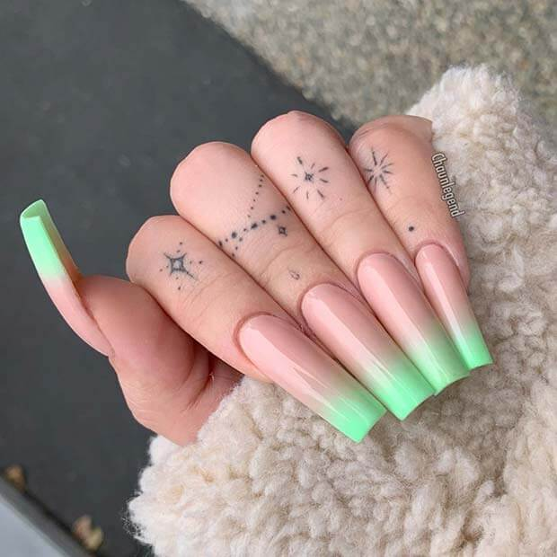 Tapered square nails long