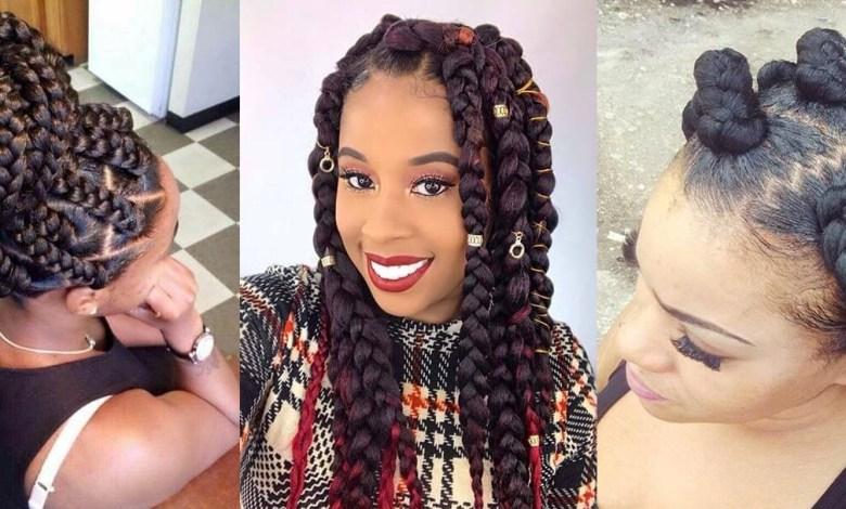 Amazing Jumbo Box Braids Ponytails 2020 For African Ladies