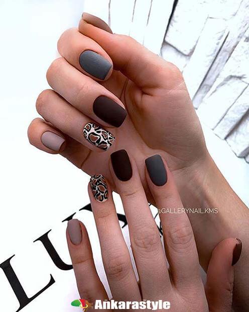 Unique Leopard Manicure