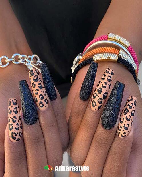 Stiletto Leopard Nail Designs