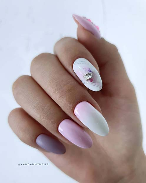 Lovely Almond Acrylic Nails