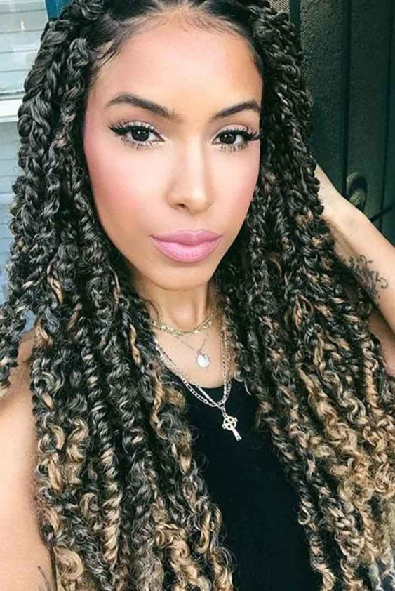 Front Swept Passion Twists