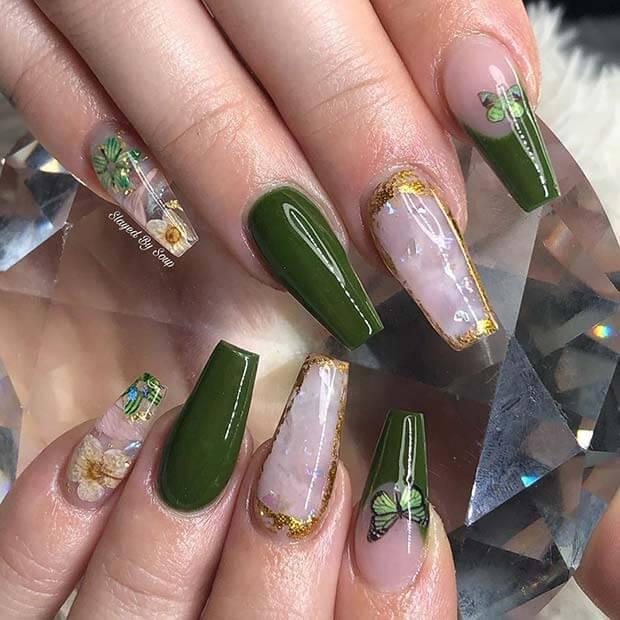 Unique Green Nails Ideas 2021 Perfect To Copy